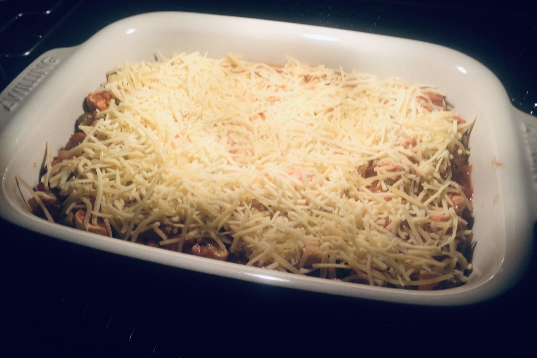 Lasagne met kip en groenten